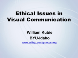 Ethical Issues in Visual Communication