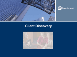 Advisor discovery strategies: know your client