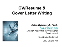 CV and Cover Letter writing - Home | University Career