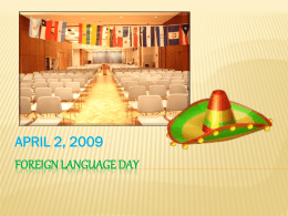 FOREIGN LANGUAGE DAY - SIU