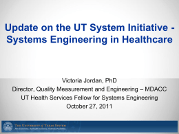 Update on the UT System Initiative