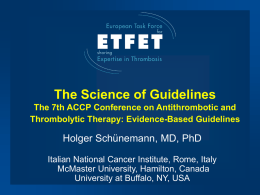 Methodology for Guideline Development for the 7th ACCP