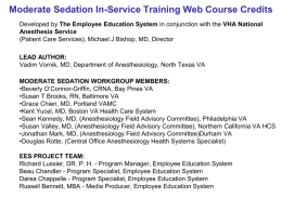 Moderate Sedation National Training