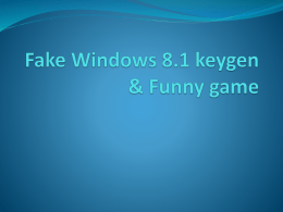 Fake Windows 8.1 keygen & Funny game