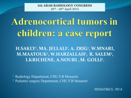 Adrenocortical tumors in children: a case report