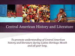 Central American History and Literature
