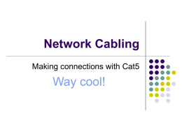 Network Cabling - Clarkson University