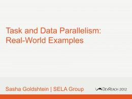 Task and Data Parallelism