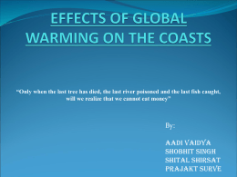 Effects of Global Warming on the Coasts of India
