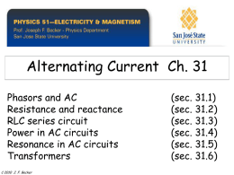 AC Circuits - Home | Department of Physics and Astronomy