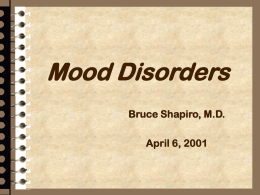 Depressive Disorders - New York Medical College