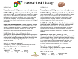 National 4 and 5 Biology