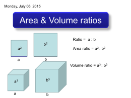 Area & Volume ratios