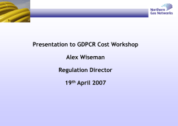 NGN Cost Workshop Presentation Slides