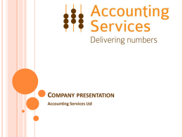 Title of PPT - Accounting Services Ltd