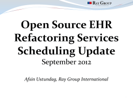Open Source EHR Re-factoring Services