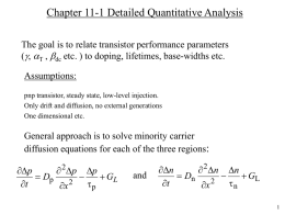 Minority Carrier Distributions and Terminal Currents