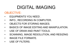 DIGITAL IMAGING - S.SELVAGANAPATHY., ASST.PROF., MCA