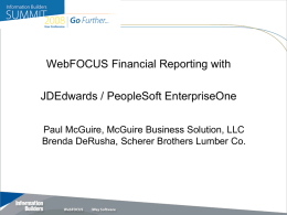 JD Edwards / PeopleSoft Enterprise One – Lessons Learned