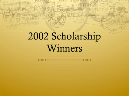 2002 Scholarship Winners - AAHRA