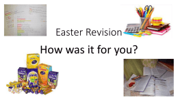 Easter Revision - Whitley Bay High School