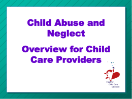 CHILD CARE CONSULTATION