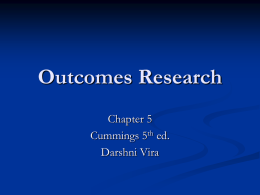 Outcomes Research - University of California, Los Angeles
