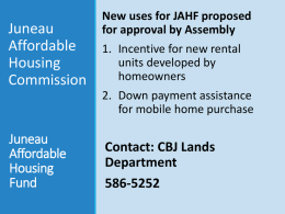 Juneau Affordable Housing Fund