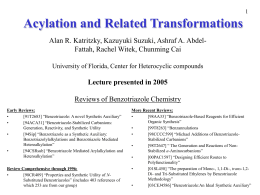 Acylation and Related Reactions