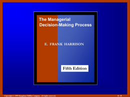Figure 1.1 The Scope of Decision Making - Bar
