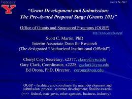 The Grant Development Process at Youngstown State University