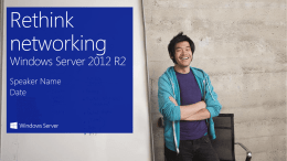Windows Server 2012 R2: Networking