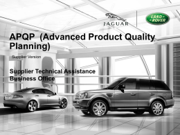 APQP (Advanced Product Quality Planning) STA Version