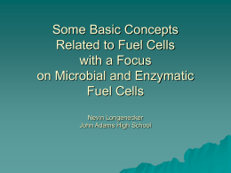 Some Basic Concepts Related to Fuel Cells with an Emphasis