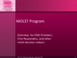 MOLST - Compassion and Support