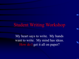 Student Writing Workshop - Welcome to Schools.ALSDE.Edu