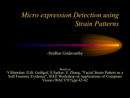 Micro expression Detection using Strain Patterns