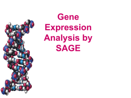 Gene Expression Analysis by SAGE and MPSS