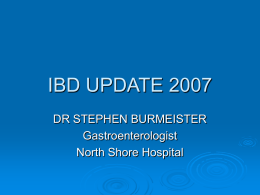 IBD UPDATE 2005 - Auckland District Health Board (ADHB)