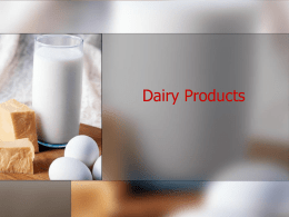 Dairy Products - Wisconsin Restaurant Association
