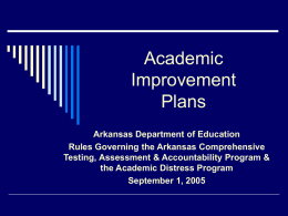 Academic Improvement Plans