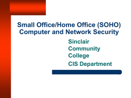 Small Office, Home Office (SOHO) Security