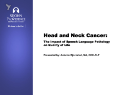 Head and Neck Cancer: