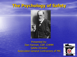 PowerPoint - The Psychology of Safety