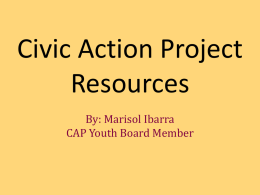 CAP Resources - Civic Action Project