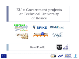 EU e-Gov projects at TUKE