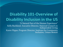 Disability 101 - National Service Inclusion Project
