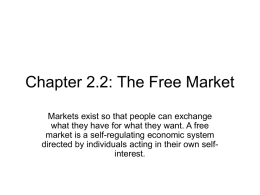 Chapter 2.2 The Free Market