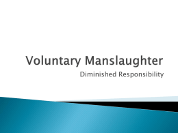 Voluntary Manslaughter