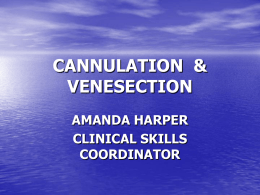 Cannulation and Venesection handouts